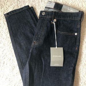 Everlane Dark Wash Mid Rise Skinny Ankle Jeans